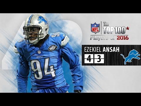 #43: Ezekiel Ansah (DE, Lions) | Top 100 NFL Players of 2016