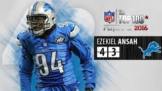 #43: Ezekiel Ansah (DE, Lions) | Top 100 NFL Players of 2016