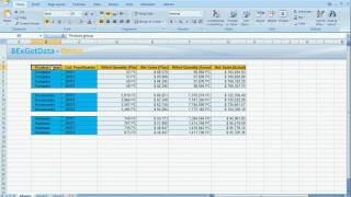 SAP(ص) BW Excel محلل - BExGetData Demo