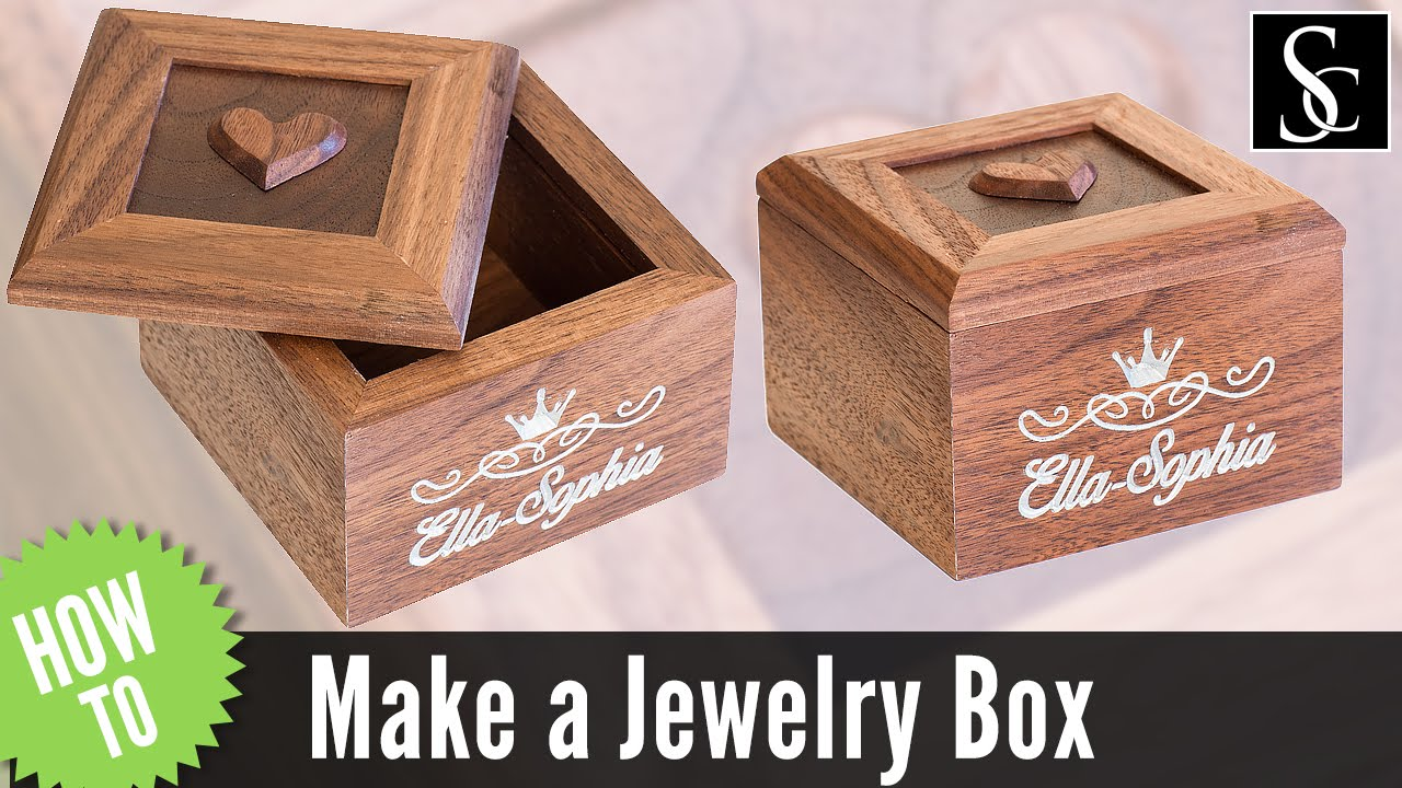 how to make a wooden jewelry box youtube. Black Bedroom Furniture Sets. Home Design Ideas
