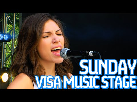 Luke Carey, Ellie Rose and Draper Perform Live On The Visa Music Stage At Formula E!