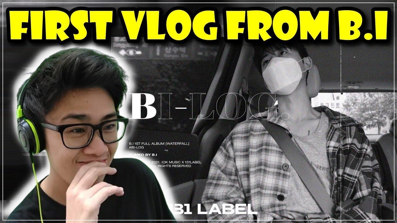 B.I V-log Reaction | BI-LOG first v-log/on my way to ID/no giving up climbing/mukbang/studying Eng