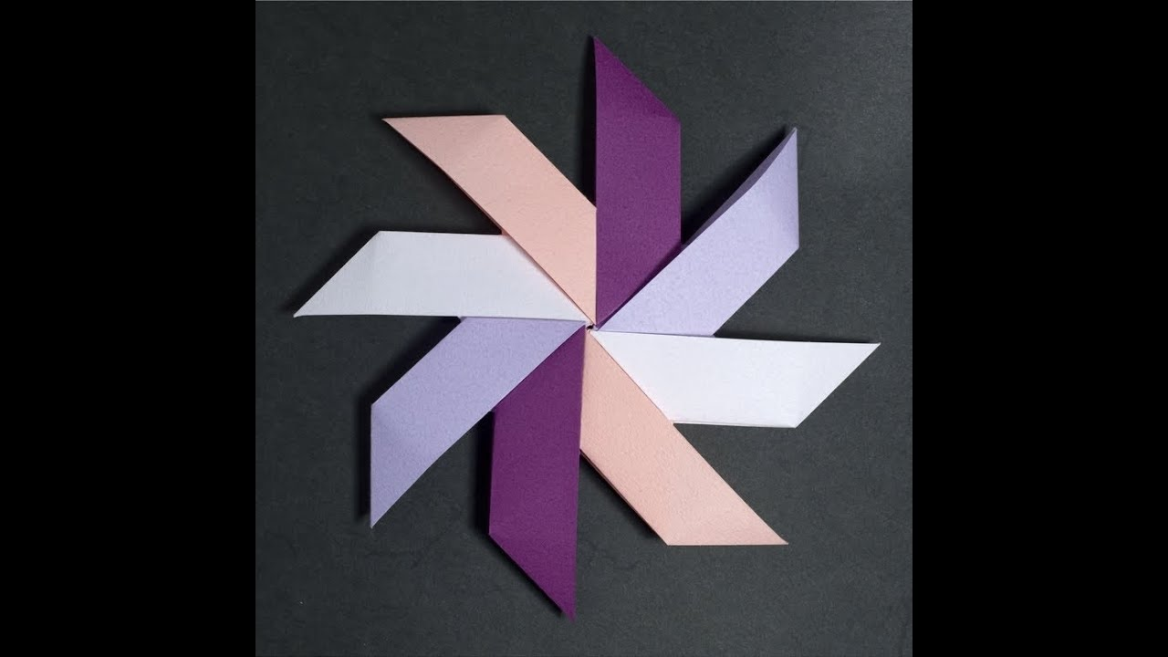 Origami How To Fold The Best Ever Paper Pinwheel Youtube