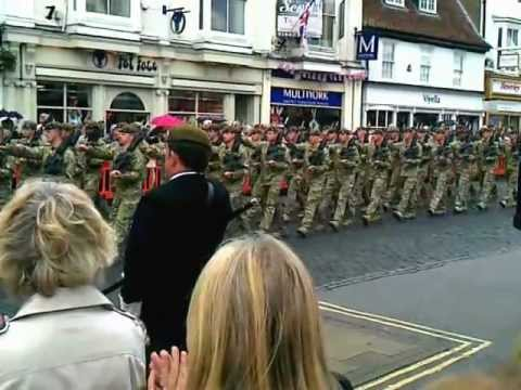 First Battalion, Yorkshire Regiment in Beverley 11th July 2012 plus street interview.
