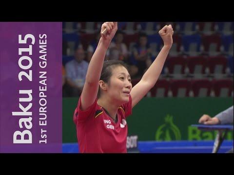 Germany take Women's Team Gold | Table Tennis | Baku 2015 European Games