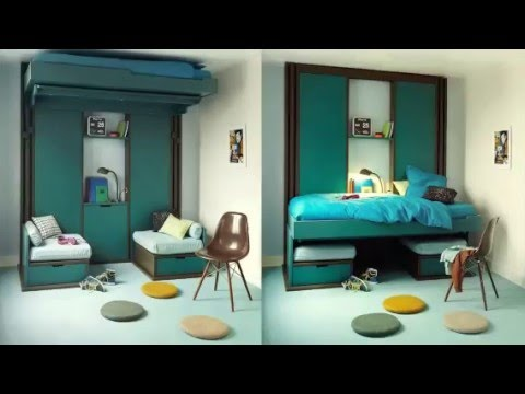 lit mural pas cher youtube. Black Bedroom Furniture Sets. Home Design Ideas