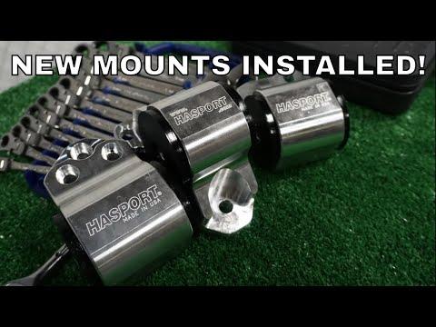 B SERIES HASPORT MOTOR MOUNTS INSTALL | HOW TO