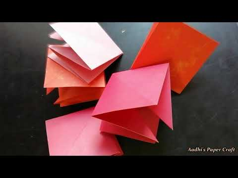 How to make a Squash Card (Squash Book)   Explosion Box DIY Cards   Easy Craft