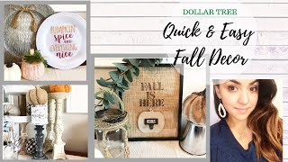 DOLLAR TREE FALL DIYS | QUICK & EASY FALL DECOR | RUSTIC & FARMHOUSE DIYS | BURLAPFABRIC.COM
