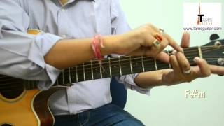 Ajeeb Dastan guitar lesson with cool chords (www.tamsguitar.com)