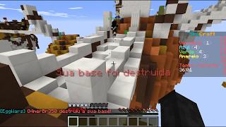 Jogando EggWars no minecraft tlaucher no pc feat Nickolas #A nossa base foi destruída!!