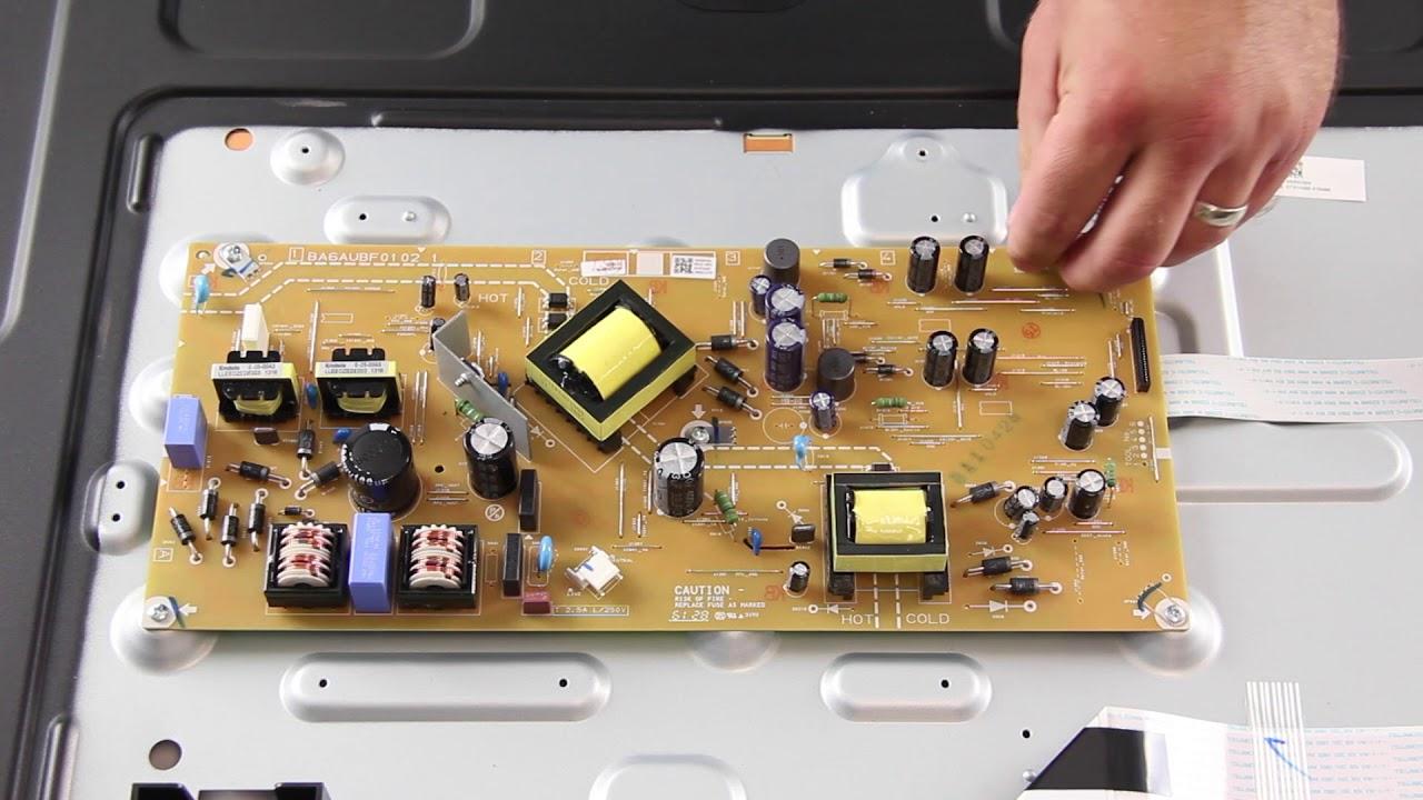 sanyo 50 led tv repair how to replace all boards for tv repair model fw50d36f [ 1280 x 720 Pixel ]