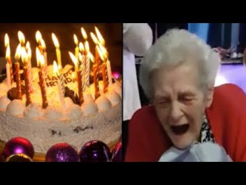 90 Years Old Lady Gets A Penis Cake For Her Birthday Finally Happy Again