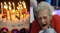 90 Years old Lady gets a (Penis) Cake for her Birthday! Finally Happy Again