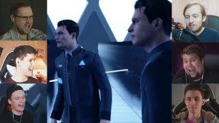 """""""Реакции Летсплейщиков"""" на Двух Конноров из Detroit: Become Human"""