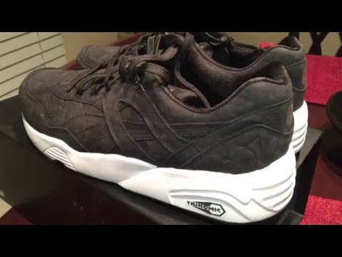 8ec2ab091f3 Puma R698 Reflective Trinomic Sneaker On Feet Review THESNEAKERADDICT. Puma  x BAPE R698