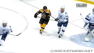 Brad Marchand Spears Jake Dotchin - April 4th, 2017 (HD 60FPS - Dual Feed)