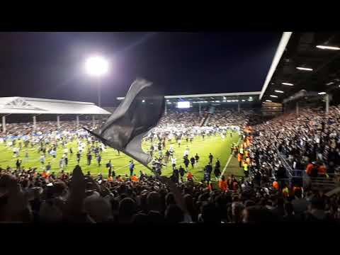 Fulham - Derby 2-0 Final whistle / Pitch invasion