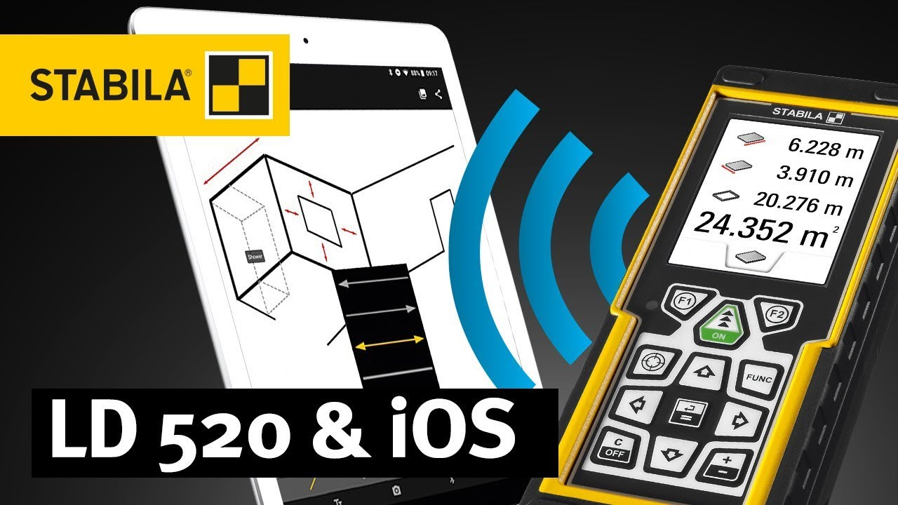 Laser Entfernungsmesser Ld 520 : Faq stabila ld mit measures app und ios gerät koppeln youtube