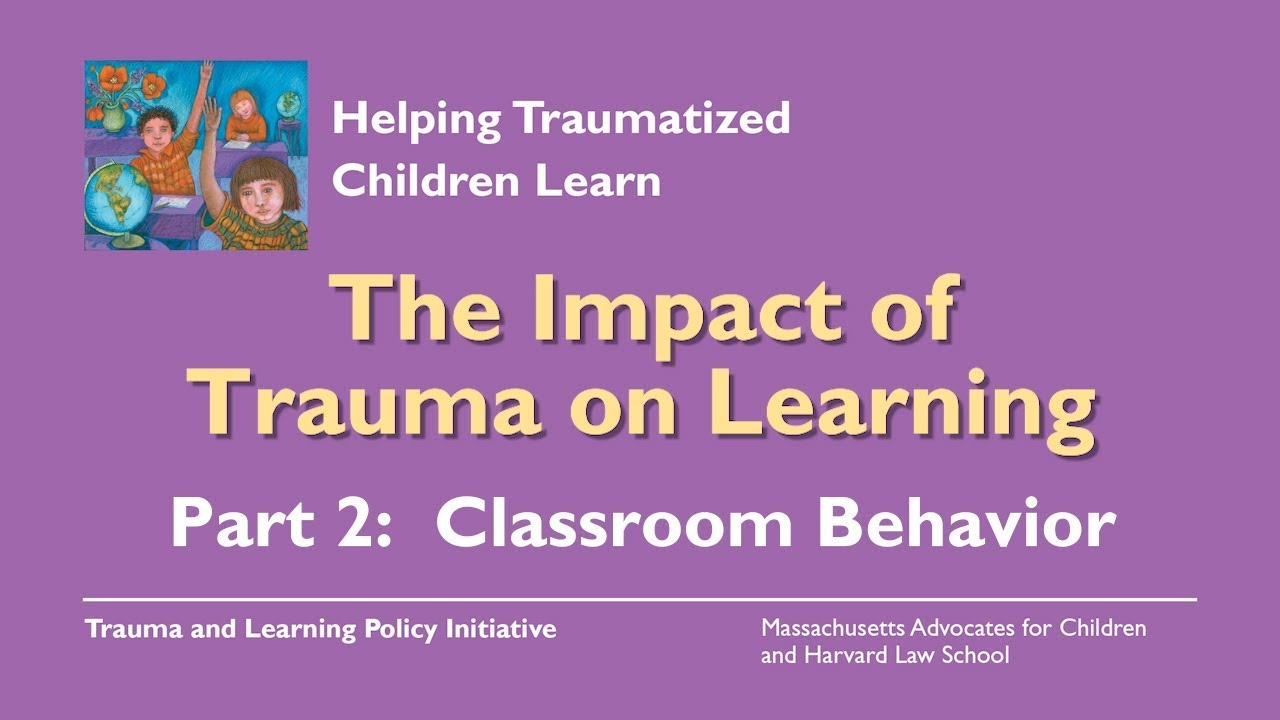 Video On Impact Of Trauma On Learning >> The Impact Of Trauma On Learning Part 2 Classroom Behavior Youtube