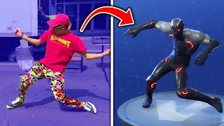 Top 10 Fortnite Dances IN REAL LIFE! (Fortnite Battle Royale Season 4) thumbnail