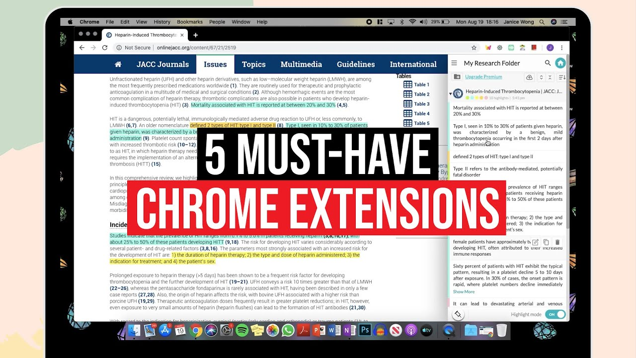 5 Must-Have CHROME EXTENSIONS for Students! | 2019