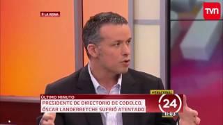 TVN - ÚLTIMO MINUTO (2 y 3) - Atentato contra presidente del directorio de Codelco