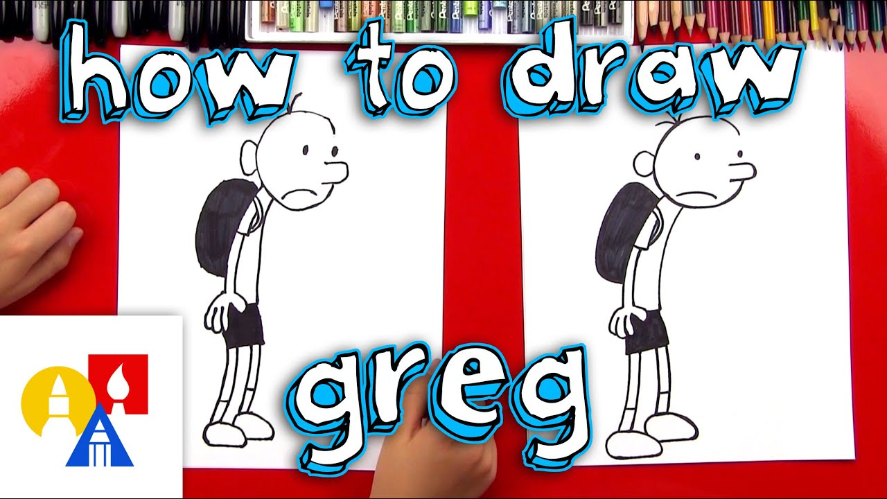 How To Draw Greg From Diary Of A Wimpy Kid Youtube