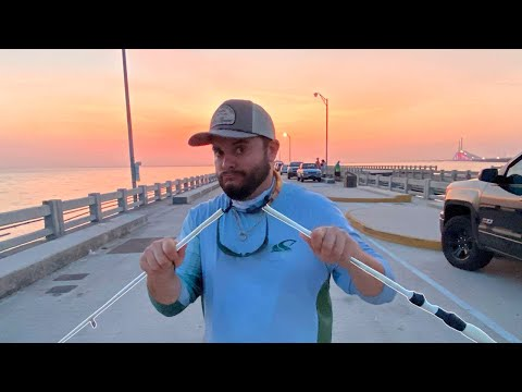We Broke A $500 Rod Grouper Fishing The Skyway Fishing Pier