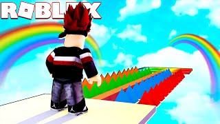 THE MOST COLORFUL RAINBOW OBBY! Roblox