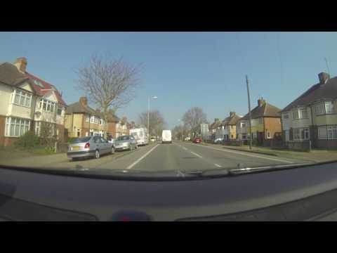 K501 KYA Man using mobile driving Cambridge 28march17 1224pm