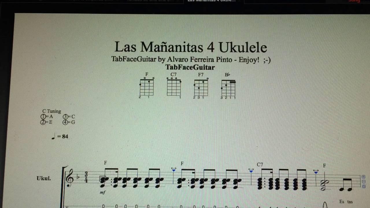 Las Mañanitas 15 Ukulele Pedro Infante TabFaceGuitar Enjoy ...