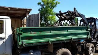 Чистка загона на МТЗ 82 и ГАЗ 3307