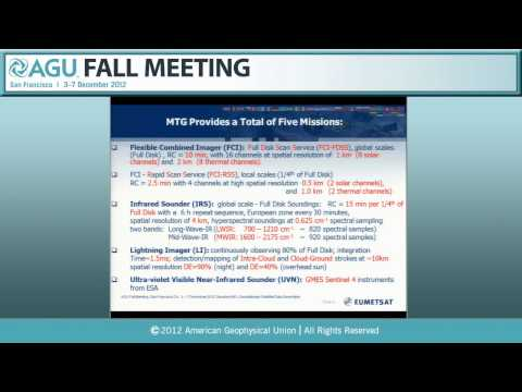 IN43E. Geostationary Satellite Data Generation II - 2012 AGU Fall Meeting