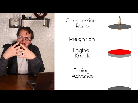 What is compression ratio, preignition, knock, and ignition timing?
