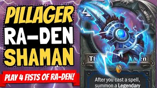 FIST OF RA-DEN ROCKS!! And This Deck Has FOUR OF THEM! | Galakrond's Awakening | Hearthstone