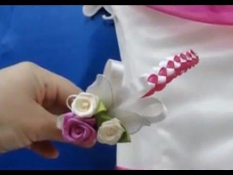 Tiara diadema de comunion como hacer miles de flores vol - Como hacer diademas ...