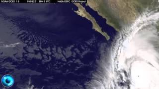 La NASA Graba desde el Espacio al Huracán Patricia Golpeando Jalisco y Colima, Mexico 2015