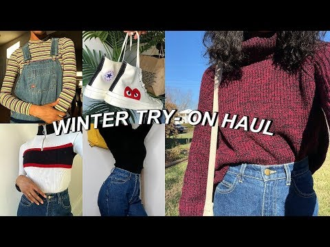 HUGE WINTER TRY-ON CLOTHING HAUL 2018  ...