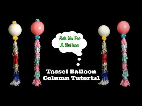 Tassel Balloon Decoration Tutorial