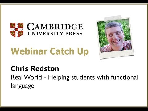 Real World  - Helping students with functional language Chris Redston