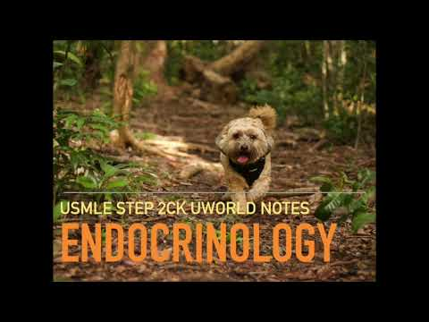 Endocrinology UWORLD High Yield Audio Lecture Review Notes for USMLE STEP  2CK