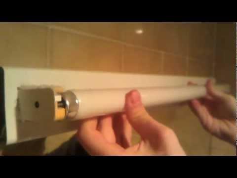Arreglar luz fluorescente - Instalar el cebador - YouTube