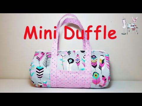 DUFFLE BAG   DUFFLE PURSE   DIY BAG    BAG TUTORIAL    Coudre un  sac   Bolsa de bricolaje