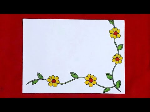 Simple Flower Border Designs Diy Projects Flower Border Assignment Front Page Design For School