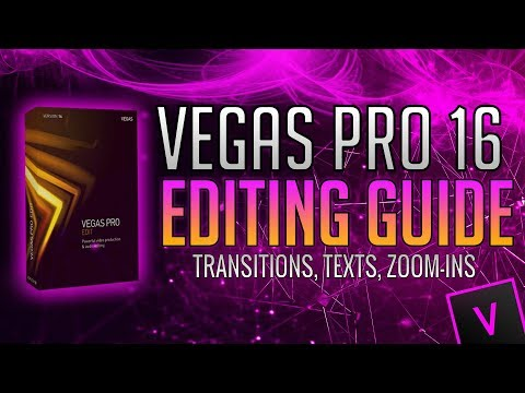 How To Edit with VEGAS Pro 16 for YouTube! (Adding Text, Tra