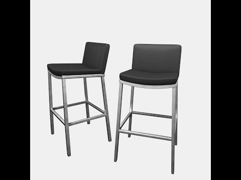 How To Make A Realistic Leather Bar Stool in Blender - Part 2