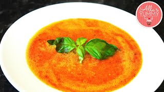 How To Make Tomato & Basil Soup - Tomato Soup Recipe - Томатный суп с базиликом