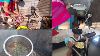 चूल्हे पे बनाया देसी चिकेन ।नया experience. Sunday vlog. INDIAN LIFESTYLES WITH GAURI.