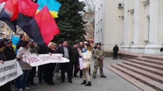 Акция в поддержку участников блокады Донбасса. Херсон. 2 ч